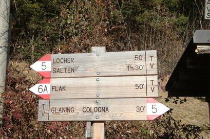 Wanderweg von Jenesien - Glaning - Bozen