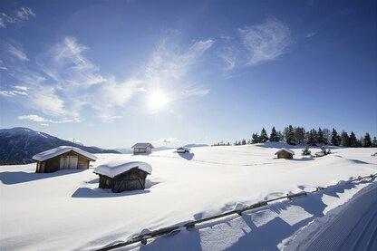 Górska hala Rodenecker Alm w okresie zimowym