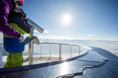 La piattaforma panoramica Gitschberg con vista su più di 500 vette alpine