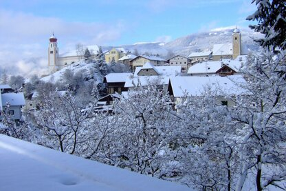 The village of Laion in wintertime