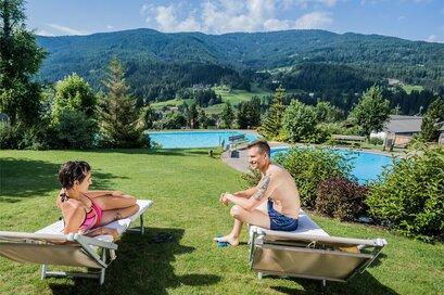 Swimming pool Panorama in Monguelfo